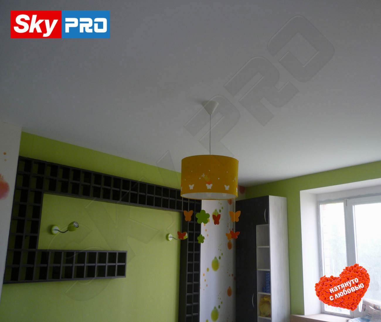 Белый тканевый натяжной потолок Clipso цена за метр