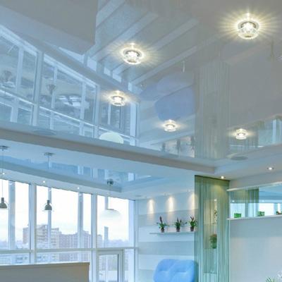 Белые глянцевые натяжные потолки цены