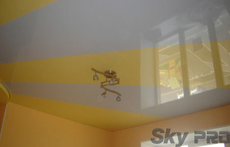 Натяжные потолки со спайкой цветов